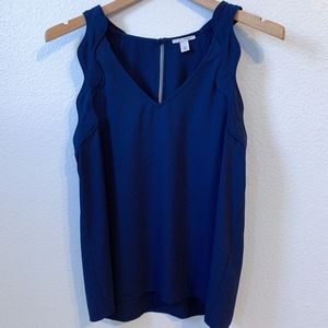 HALOGEN Sleeveless Blouse in Navy